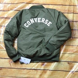 Converse Boys Olive Green Bomber Jacket M